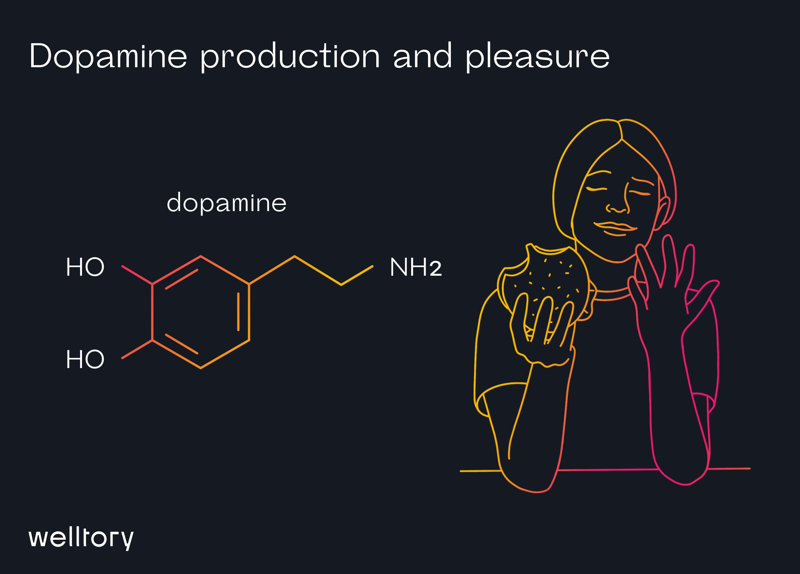Dopamine production and pleasure